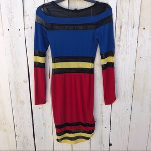 Primary colorblock dress mesh panels small